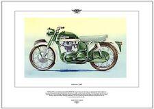 NORTON ES2- Moto Stampa Fine Art - 500cc singolo - Moto D'epoca foto