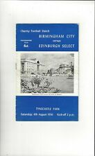 Edinburgh Select v Birmingham City Friendly Football Programme 1956/57