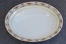 "Vintage Eschenbach Lohengrin Bavaria China 10"" oval serving bowl  mid-century"