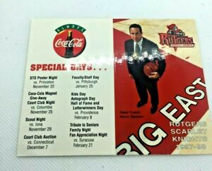 1997-98 Rutgers College Scarlet Knights Basketball Schedule