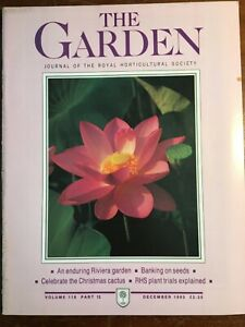 THE ROYAL HORTICULTURAL SOCIETY THE GARDEN JOURNAL DECEMBER 1993 VOL 118 PART 12