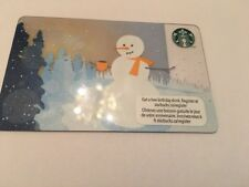"STARBUCKS Gift Card☕️ ZERO $ BALANCE 2012 Holiday ""SNOWMAN"" Limited Edition (CDN"