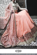 Beautiful  Designer Party Wear  Pink Color Unstitched Lehenga Choli