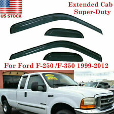 Rain Guard Shade Vent Visors For Ford F250/F350 Super Duty Extended Cab 1999-12