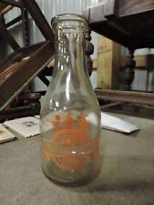 Vintage TRPQ Meadow Brook Farm Dairy, Mount Pleasant, PA. Quart Milk Bottle, (VB