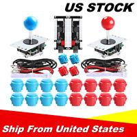 2-Player Arcade DIY Kit 2x USB Encoder, 2x Joystick, 20x Arcade Buttons Durable