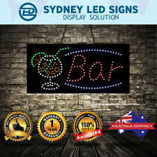 Animated LED NEON Motion Flash Open Business Sign BAR SIZE: 60CM X 30CM