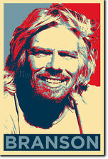 Richard Branson PHOTO PRINT POSTER (Obama Hope) entrepreneur