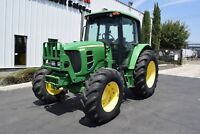 2010 John Deere 6430 4x4 Tractor Enclosed Cab A/C Ex-City