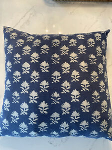 Pottery Barn pillow cover Blue 22x22- Quantity-2