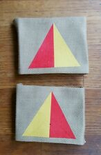 43rd Wessex. Middlesex MMG Battn Flash repro printed badges WWII for Battledress