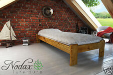 "*NODAX* Wooden Furniture Solid Pine Single Bedframe 3ft UK - Colours - ""F15"""