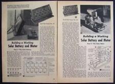 Solar Battery & Motor 1956 How-To build PLANS 6 volt