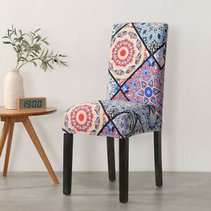 Boho Floral Stretch Chair Cover Dining Room Party Wedding Banquet Seat Case