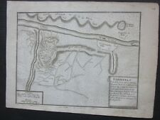 1696 BURG RHEINFELS PLAN Sankt Goar original map Nicolas de Fer Rheinfels Castle