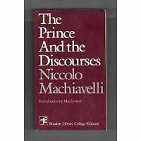 The prince,: And The discourses (Modern Library co