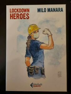 "LOCKDOWN HEROES Original Full Set x24 Litho Poster 9,5x13,5"" SIGNED MANARA"