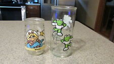 Muppets! - Set of 2, Kermit/Miss Piggy, Jelly/Promo Glasses, Pre-Owned, Clean