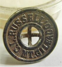 1800s scarce antique collector choice metal button C L Russel Mt Gileado 50694