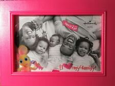 "New ListingMusical Picture Frame ""I Love My Family� Hot Pink/Hallmark Keepsake/ 4""x6"" New"