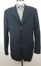 HUGO BOSS Single Breasted 3 Button Size 52R(42R US) Black 2 Piece Wool Mens Suit
