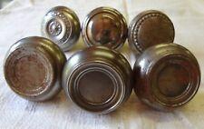 Lot of 6 Antique Vintage Ornate Steel Silver Doorknobs Door Knobs