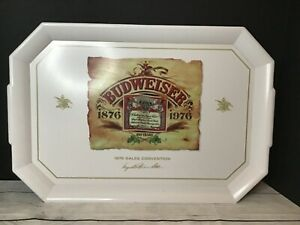 1976 Large Plastic Serving Tray BUDWEISER  SALES CONVENTION CELEBRATED 100 YEARS