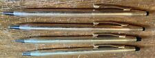 4 CROSS WRITING INSTRUMENTS-3 AUTOMATIC PENCILS,1 PEN-GOLD FILLED-USED CONDITION