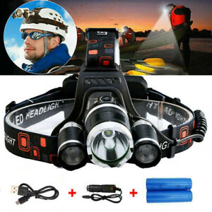 Head Torch Rechargeable Head Lamp Bar LED Headlamp Head Light With 18650 Battery