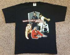 Vintage Backstreet Boys T Shirt 2000 L Tour Concert Black Double sided