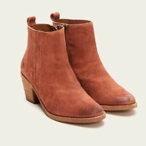 BRAND NEW IN BOX Frye Alton Chelsea Boot In Rosewood Size 7