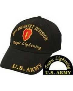 25th Infantry Division, Black Army Ballcap with Logo