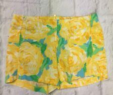 LILLY PULITZER Shorts Deenie Yellow Rose First Impression $68. sz. 00