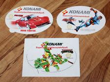 Teenage Mutant Ninja Hero Turtles / RollerGames / Road Fighter NES Sticker Set