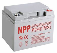 NPP 12V 45 Amp UPS Wheelchair Scooter Rechargeable Sealed Lead Acid AGM Battery