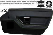 Cuciture verdi 2X PORTA ANTERIORE IN PELLE DECORAZIONE carta copertura della pelle si adatta Corvette C4 84-90