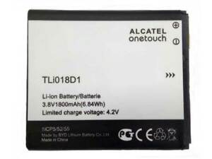 Batteria Originale ALCATEL ONE TOUCH One Touch D5 POP Pixi 3 Ricambio TLI018D