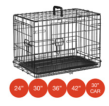 More details for folding metal dog cage by mr barker puppy training crates 5 sizes 24-42 inch