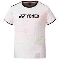 YONEX 20 S/S Men's Round T-Shirts Badminton Apparel Clothing White NWT 201TS031M
