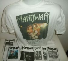 Vintage 90s Dutch Promo T Shirt 15 Fan Club Magazines MANOWAR Biography Fanclub