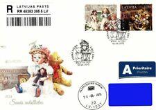 Latvia 2015 (08) Europa - Old Toys - Doll, Teddy bear (addressed fdc)