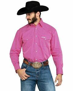 Wrangler Men's Pink L/S Shirt MTP266M