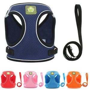 Strap Reflective Breathable Mesh Vest Lead Leash Traction Rope Pet Dog Harness