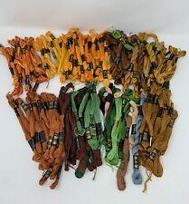 Lot 150+ DMC La Perla Embroidery Floss Thread Verigated Orange Yellow Grn Brown