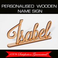 Custom Made Personalised Wooden Freestanding Baby Kids Name Sign Nursery Craft