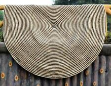 JUTE RUG ROUND NATURAL HANDMADE Reversible Braided Strip style HEMP CARPET