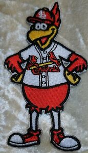 """St. Louis Cardinals 3.5"""" Fredbird Mascot Iron On Embroidered Patch~FREE SHIP!!~"""