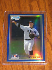 Tony Wolters 2010 Bowman Chrome BLUE Refractors #USA-20 Rookie Card - /150