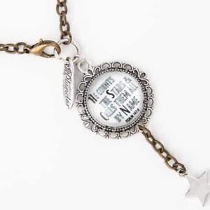 Plunder Design Fashion Jewelry Robin Silver Inspirational Charm Necklace Psalm