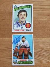 Islanders Glenn Chico Resch signed 1975 76 Topps Card